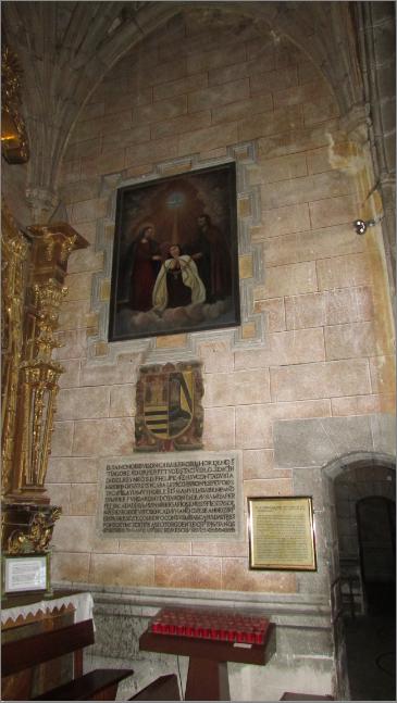 Capilla del Santo Cristo de Santa Teresa, Paramentos.