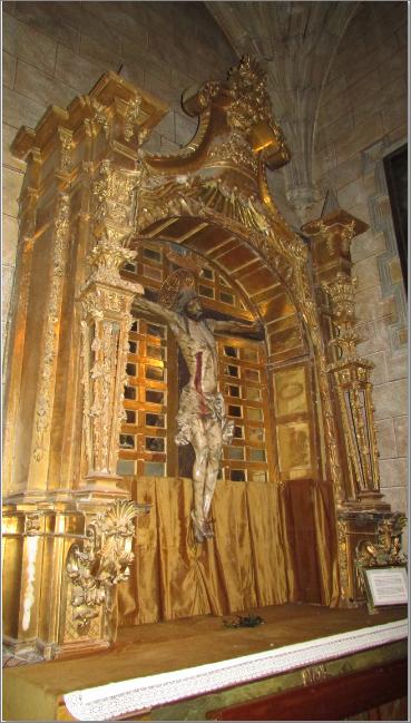 Real Monasterio de Santo Tomás. Retablo del Santo Cristo.