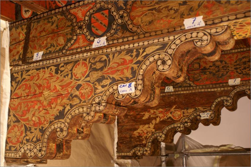 Palacio Fuensalida, Alfarjes y Artesonado