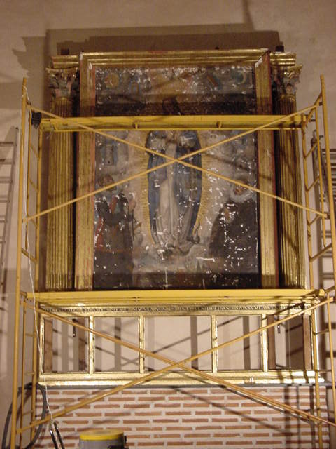 Retablo de la Inmaculada. Proceso de Restauración.